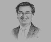 Sketch of Irhoan Tanudiredja, Senior Partner, PricewaterhouseCoopers, on business's role in delivering a high-growth/low-carbon economy