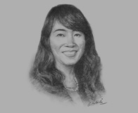 Sketch of Darani Vachanavuttivong, Co-Managing Partner and Managing Director of Intellectual Property (IP), Tilleke & Gibbins