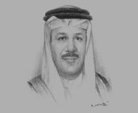 Sketch of Abdul Latif bin Rashed Al Zayani, GCC Secretary-General, on regional development and security