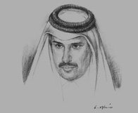 Sketch of Sheikh Hamad bin Jassim bin Jaber Al Thani, Prime Minister and Minister of Foreign Affairs