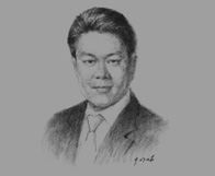 Sketch of Colin Ong, Managing Partner