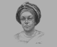 Sketch of Diezani Alison Madueke, Minister of Petroleum, on the challenges of maximising production