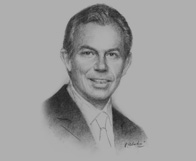 Sketch of  Tony Blair, former Prime Minister of the UK