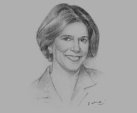 Sketch of Elizabeth Littlefield, President and CEO, Overseas Private Investment Corporation (OPIC)