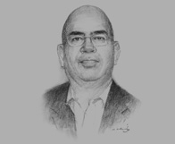 Sketch of Satish Mishra, Managing Director, Strategic Asia, on the country's decentralisation process