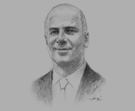 Sketch of Peter Markey, Partner, Ernst & Young, on building a qualified workforce for professional services
