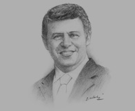 Sketch of King Abdullah II