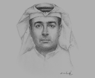 Sketch of Adel Abdulaziz Khashabi, Head of QNB Financial Services
