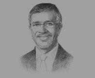 Sketch of Mahmud Merali, Managing Partner, MERALI'S,