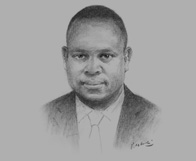 Sketch of Ovie Ukiri, Managing Partner, Ajumogobia & Okeke, on the mining industry