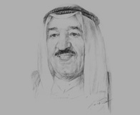 Sketch of Emir Sheikh Sabah Al Ahmed Al Jaber Al Sabah on 50 years of independence and a renewed pledge for democracy