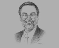 Sketch of Michael Aldrich, Partner, Hogan Lovells, on the legal system governing foreign direct investment in Mongolia (