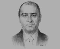 Sketch of Khaled Asfour, Managing Partner, Ali Sharif Zu'bi Advocates and Legal Consultants, on new laws protecting lenders