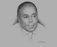 Sketch of Felix Nana Sackey, Managing Partner, Deloitte & Touche (Ghana)