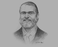 Sketch of Dr Lachlan Forrow, President, International Foundation of the Albert Schweitzer Hospital