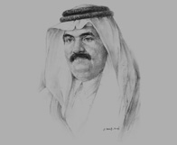 Sketch of Sheikh Hamad bin Khalifa Al Thani, Emir of Qatar