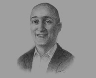 Sketch of Christian Pellone, Head of Tax, Ernst & Young Mongolia