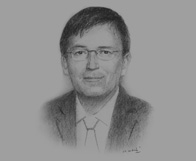 Sketch of  Stephen Tricks, Consultant, Clyde & Co