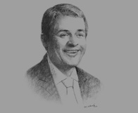Sketch of Michael Kerr, Managing Partner, SNR Denton