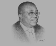 Sketch of Kofi Wampah, Acting Governor and Deputy Governor, Bank of Ghana