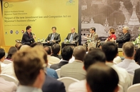 "Panel Discussion: ""Impact of the new investment law and companies act on Myanmar's business climate"""