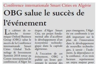 OBG Salue le succes de l'evenement