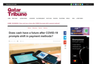 Qatar Tribune: Does cash have a future after covid-19