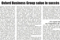 Oxford Business Group salue le succès de l'événement