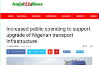 Increased public spending to support upgrade of Nigerian transport infrastructure