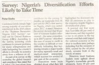Nigeria's diversification efforts likely to take time