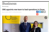 OBG appoints new team to lead operations in Oman