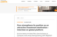 Peru strengthens its position as an attractive investment destination - Interview on OBG's global platform