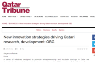 New innovation strategies driving Qatari research, development_ OBG