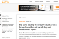 Big Data paving the way in Saudi Arabia for optimisation, streamlining and investment report