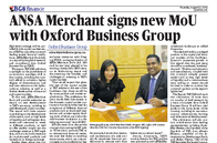 ANSA Merchant signs new MoU with Ocford Business Group