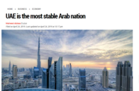 UAE is the most stable Arab nation