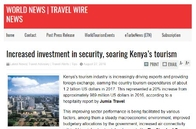 Increased investment in security, soaring Kenya's tourism