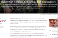 Get Rehab in Colombia's Fashion Industry