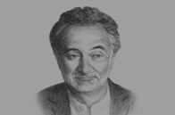 Sketch of <p>Jacques Attali, President, PlaNet Finance</p>