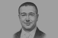 Sketch of <p>Mohamed Boussaid, Minister of Finance</p>