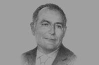 Sketch of <p>Salaheddine Mezouar, Minister of Foreign Affairs and Cooperation</p>