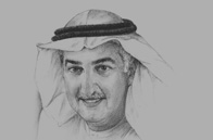 Sketch of <p>Fahad Al Mubarak, Governor, Saudi Arabian Monetary Agency (SAMA)</p>