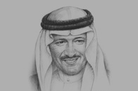Sketch of <p>Prince Sultan bin Salman bin Abdulaziz Al Saud, Chairman and President, Saudi Commission for Tourism and Antiquities (SCTA)</p>