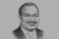 Sketch of <p>Prime Minister Peter O'Neill</p>