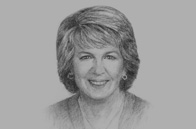 Sketch of <p> Julie Bishop, Australian Minister for Foreign Affairs </p>