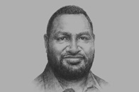 Sketch of <p>James Marape, Minister of Finance</p>