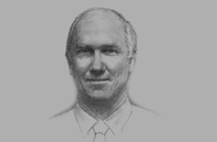 Sketch of <p>Peter Graham, Managing Director, ExxonMobil PNG</p>
