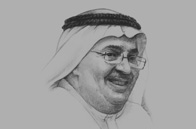 Sketch of <p>Faisal Al Ayyar, Vice-Chairman, Kuwait Projects Company</p>