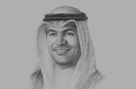Sketch of <p>Mohammad Al Hashel, Governor, Central Bank of Kuwait (CBK)</p>