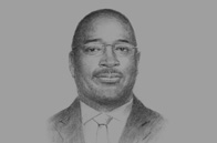 Sketch of <p>Etienne Dieudonné Ngoubou, Minister of Petroleum and Hydrocarbons</p>